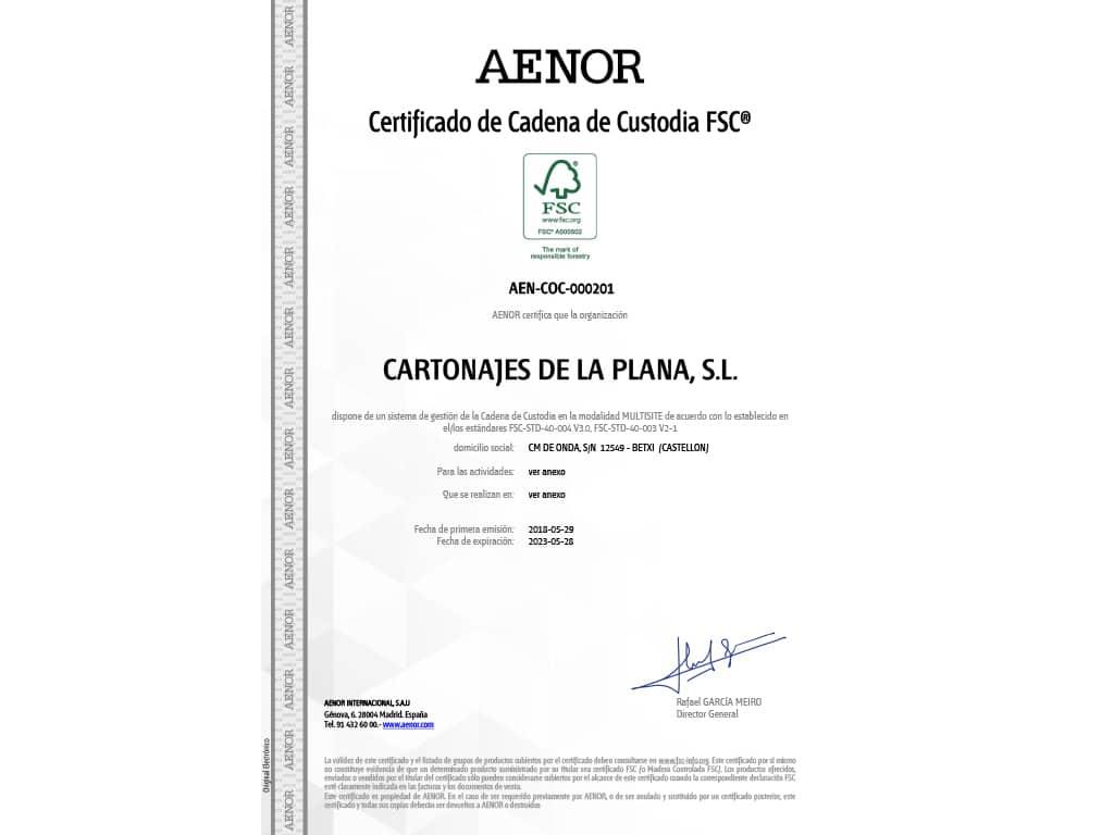Marco Certificado FSC